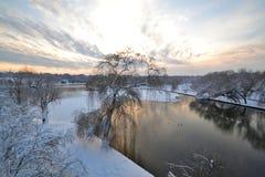 Snowy湖 图库摄影