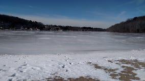 Snowy湖 免版税库存图片