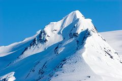 Snowy Alaska mountain peaks Stock Images