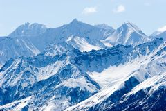 Snowy Alaska mountain peaks Royalty Free Stock Image