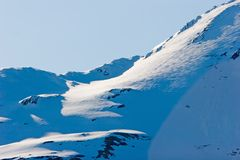 Snowy Alaska mountain peaks Royalty Free Stock Photography