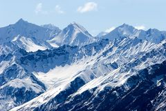 Snowy Alaska mountain peaks Royalty Free Stock Images
