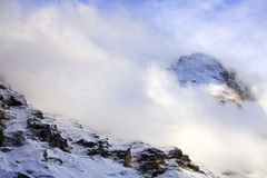 Snowy-Alpen Stockfotografie