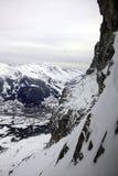 Snowy-Alpen Lizenzfreies Stockbild