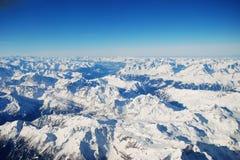 Snowy-Alpen in der Schweiz Stockfoto