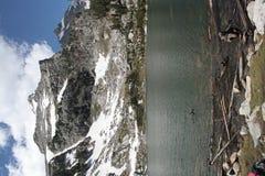 Snowy Alpine Lake Royalty Free Stock Photo