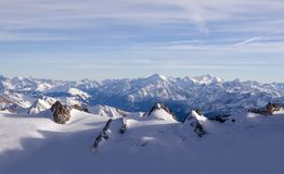 Snowy Alpine landscape Royalty Free Stock Photo