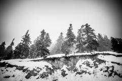 Snowy-alpine Straße Lizenzfreie Stockfotografie