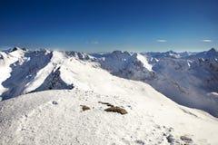 Snowy alps Stock Photo
