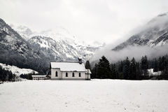 Snowy Alps, Germany. A landscape in Alps, taken in Oberstdorf Stock Photo