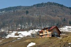 Snowy altitude landscape Stock Photos