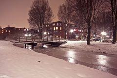 Snowy Amsterdam the Netherlands Royalty Free Stock Photography
