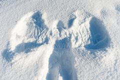 Snowy angel background. Picture of a Snowy angel background Stock Image