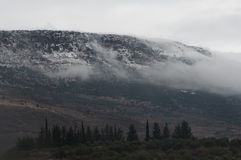 Snowy-Ansicht Stockbilder