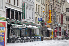 Snowy Antwerp Stock Photo