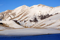 Snowy apennines in winter Royalty Free Stock Images