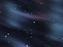 Snowy aurora glow background Stock Photos