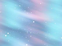 Snowy aurora glow background Stock Image