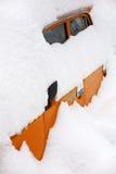 Snowy-Auto Lizenzfreie Stockfotos