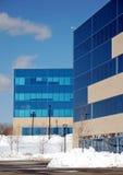 Snowy-Büropark Lizenzfreie Stockfotos