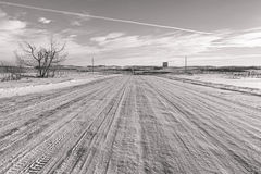 Snowy Back Roads Stock Photo