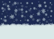 Snowy_background Imagem de Stock Royalty Free