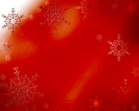 Snowy background. Vibrant red background with falling snow Stock Photography