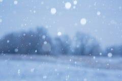 Snowy background. Art blue winter snowy background stock image
