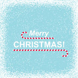 Snowy Background with Merry Christmas Royalty Free Stock Photography