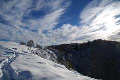 Snowy-Bahn Stockfoto