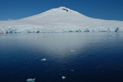 Snowy Bank in Antarctica. Ice Shelf in the South Sea Stock Photography