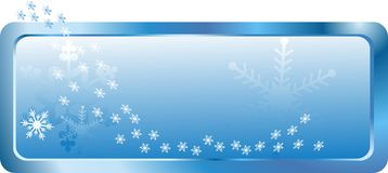 Snowy banner Royalty Free Stock Photos