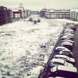 Snowy Bansko Stockbild