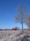 Snowy Barn in Dexter Stock Photography