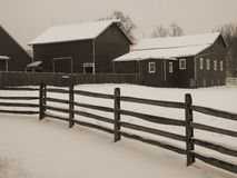 Snowy Barnyard Royalty Free Stock Image