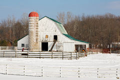 Snowy Barnyard Stock Photography
