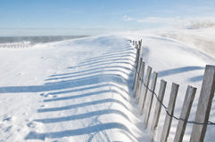 Snowy Beach. Aftermath of a blizzard at the beach Royalty Free Stock Photography