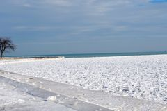 Snowy Beach Royalty Free Stock Photography