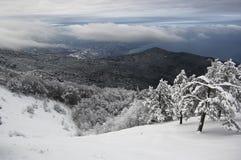 Snowy-Berg Lizenzfreie Stockfotografie