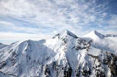 Snowy-Berg Stockbilder