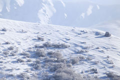 Snowy-Bergabhang im Winter Lizenzfreies Stockfoto