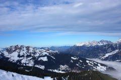 Snowy-Berge Stockbild