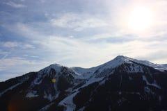 Snowy-Berge Stockfotos