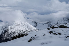 Snowy-Berge 4 stockfoto
