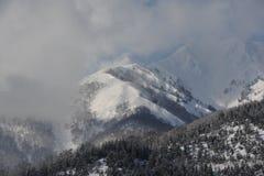 Snowy-Berge im Winter Lizenzfreie Stockfotos