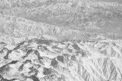 Snowy-Berge, Vogelperspektive Große Berge Umweltschutz und Ökologie Wanderlust und Reise Erde ist lizenzfreies stockfoto