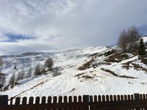 Snowy-Berglandschaft im vipiteno in trentino Alt die Etsch Stockbild