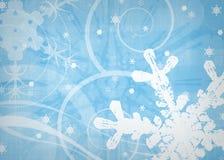 Snowy-blauer Winterhintergrund Lizenzfreies Stockbild