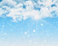 Snowy blue sky Stock Photography