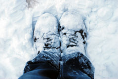 Snowy Boots Stock Image